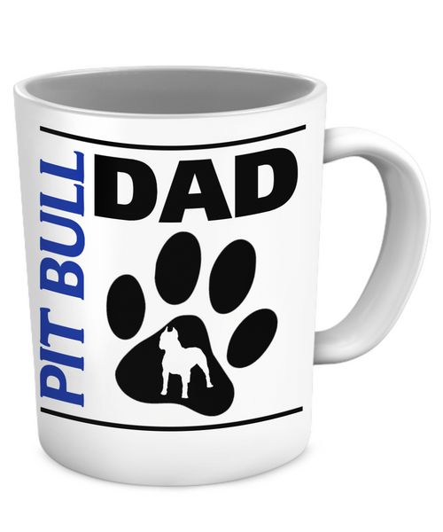 Pit Bull Dad - Mug - Dogs Make Me Happy