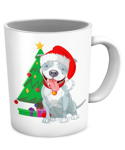 Pit Bull Holiday Mug - Dogs Make Me Happy