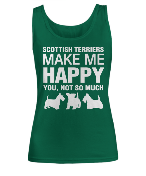 Scottish Terriers Make Me Happy Women's Shirt - Dogs Make Me Happy - 9