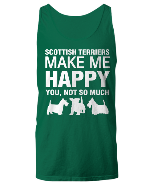 Scottish Terriers Make Me Happy Women's Shirt - Dogs Make Me Happy - 29