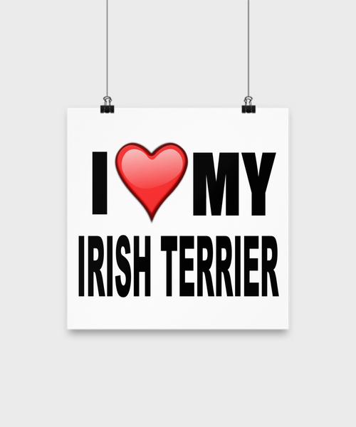 I Love My Irish Terrier -Poster - Dogs Make Me Happy - 2