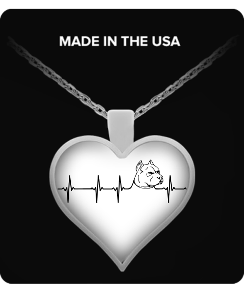 My heart beats for Pit Bulls - pit bull necklace - dog necklace - dog necklaces - dog stuff - Dogs Make Me Happy