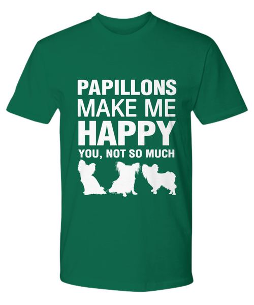 Papillions Make Me Happy T-shirt - Dogs Make Me Happy - 19