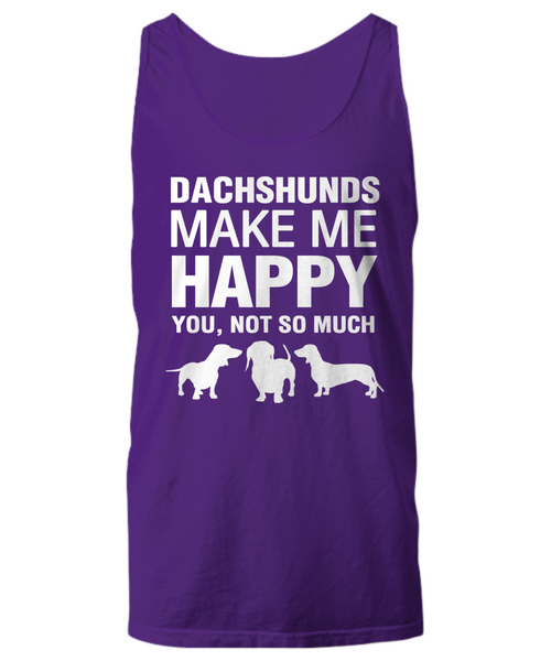 Dachshunds Make Me Happy Women's Shirt - Dogs Make Me Happy - 15