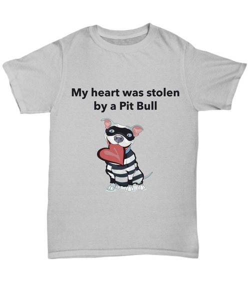 My Heart Was Stolen By A Pit Bull T-Shirt - Dogs Make Me Happy - 3
