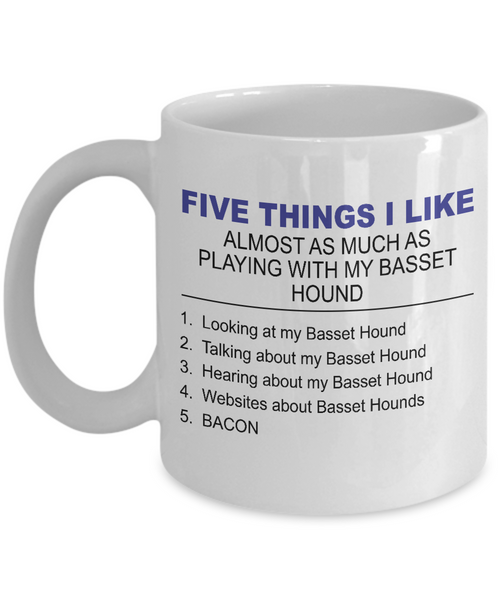 Five Thing I Like About My Basset Hound - Dogs Make Me Happy - 1
