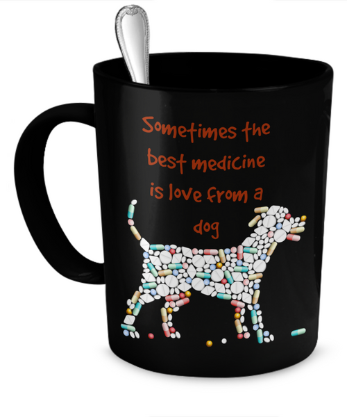 sometimes the best medicine is love from a dog