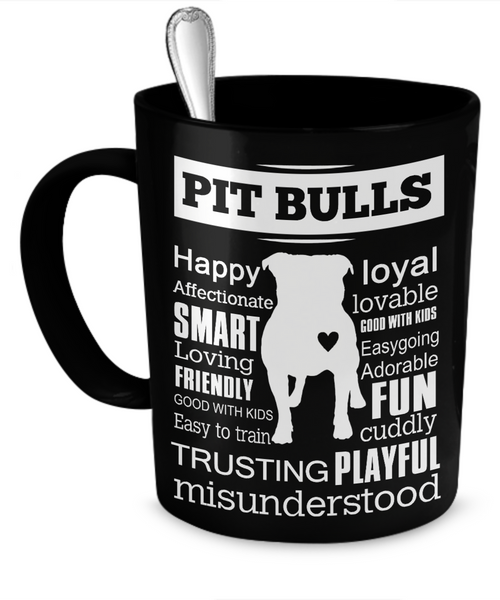 PB Black Mug - Dogs Make Me Happy