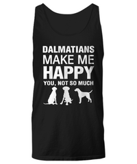 Dalmatians Make Me Happy Women's Shirt - Dogs Make Me Happy - 13