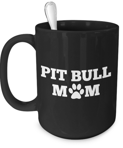 Pit Bull Mom (black) - Dogs Make Me Happy - 3