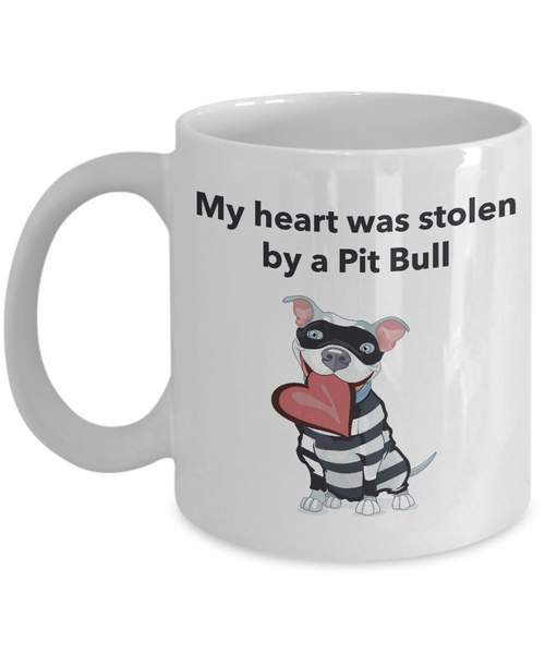 My Heart Was Stolen By A Pit Bull Mug - Dogs Make Me Happy - 1