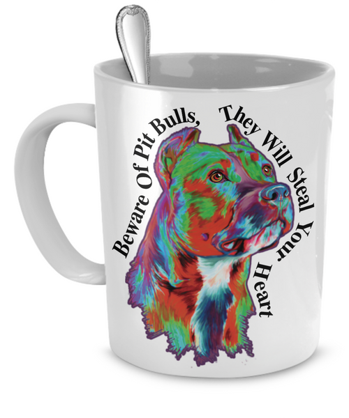 Pit Bull Mug Demo - Dogs Make Me Happy - 1