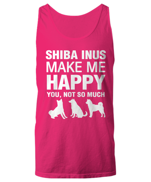 Shiba Inus Make Me Happy Women's Shirt - Dogs Make Me Happy - 27