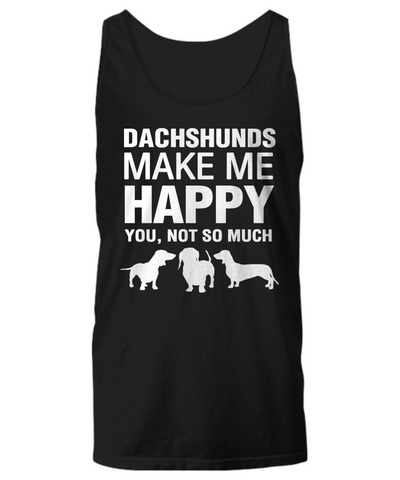Dachshunds Make Me Happy Women's Shirt - Dogs Make Me Happy - 11