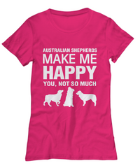 Australian Shepherds Make Me Happy Women's Tank Top