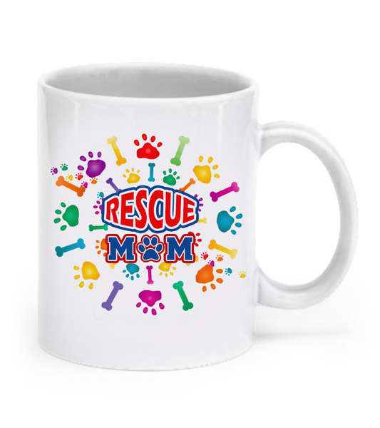 Rescue mom mug - Dogs Make Me Happy