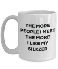 The more people i meet the more i Like My Silkzer mug – Funny Coffee Cup – Christmas Dog Lover cute GAG regalo idea 15oz Infradito colorati estivi, con finte perline