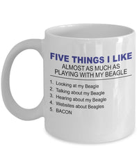DogsMakeMeHappy Beagle Mug - Five Thing I Like About My Beagle -Beagle Lover Gifts