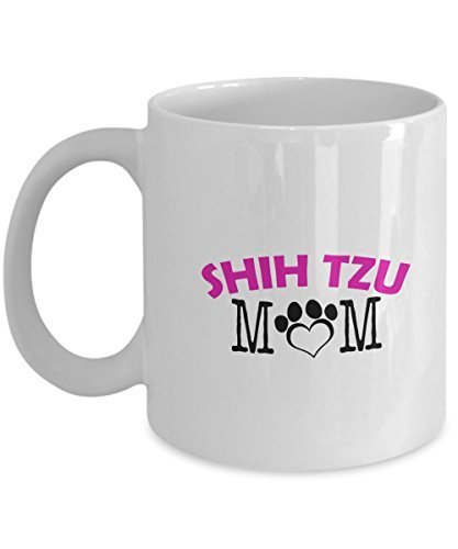 Funny Shih Tzu Couple Mug – Shih Tzu Dad – Shih Tzu Mom – Shih Tzu Lover Gifts - Unique Ceramic Gifts Idea (Mom)