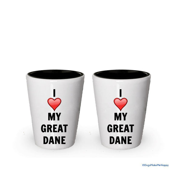 I love my Great Dane Shot Glass - Great Dane Lover gifts (2)