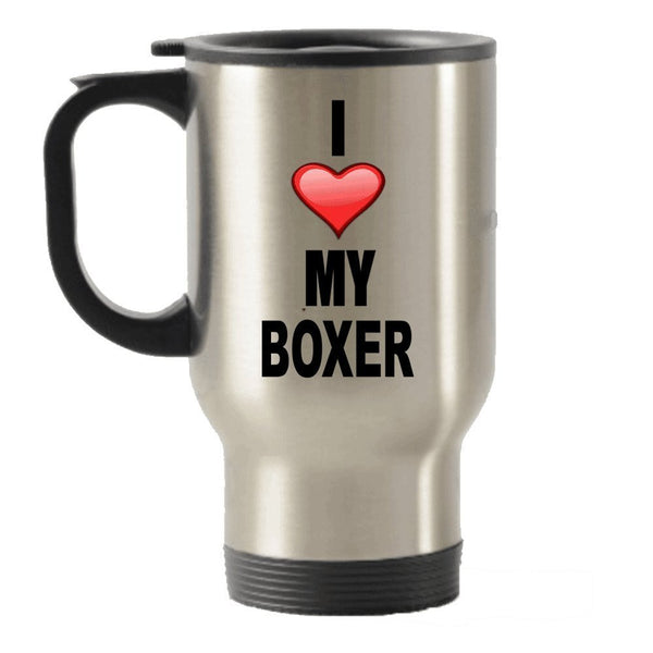I Love My Boxer Stainless Steel Travel Insulated Tumblers Mug