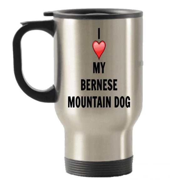I Love My Bernese Mountain Dog Stainless Steel Travel Insulated Tumblers Mug