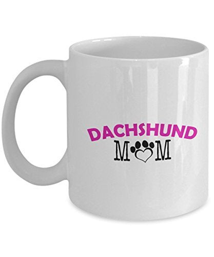 Funny Dachshund Couple Mug – Dachshund Dad – Dachshund Mom – Dachshund Lover Gifts - Unique Ceramic Gifts Idea (Mom)