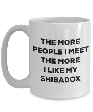 The more people i meet the more i Like My Shibadox mug – Funny Coffee Cup – Christmas Dog Lover cute GAG regalo idea 15oz Infradito colorati estivi, con finte perline