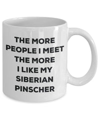 The more people i meet the more i Like My Siberian Pinscher mug – Funny Coffee Cup – Christmas Dog Lover cute GAG regalo idea 11oz Infradito colorati estivi, con finte perline