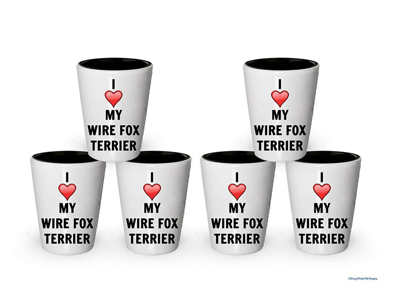 I love my Wire Fox Terrier Shot Glass - Wire Fox Terrier Lover gifts (4)
