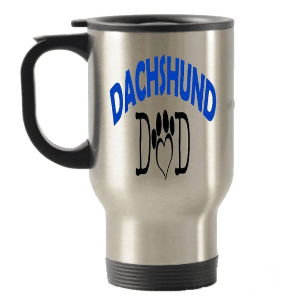Dachshund Dad and Mom dog gift idea Stainless Steel Travel Insulated Tumblers Mug (Couple)