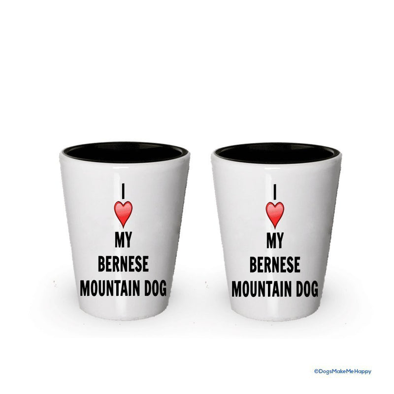 I love my Bernese Mountain Dog Shot Glass - Bernese Mountain Dog Lover gifts (6)