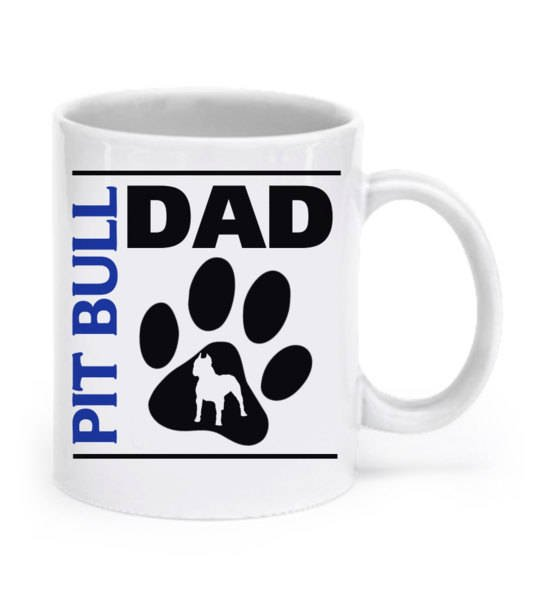 Pit bull couple's mugs - Pit bull mom and pit bull dad