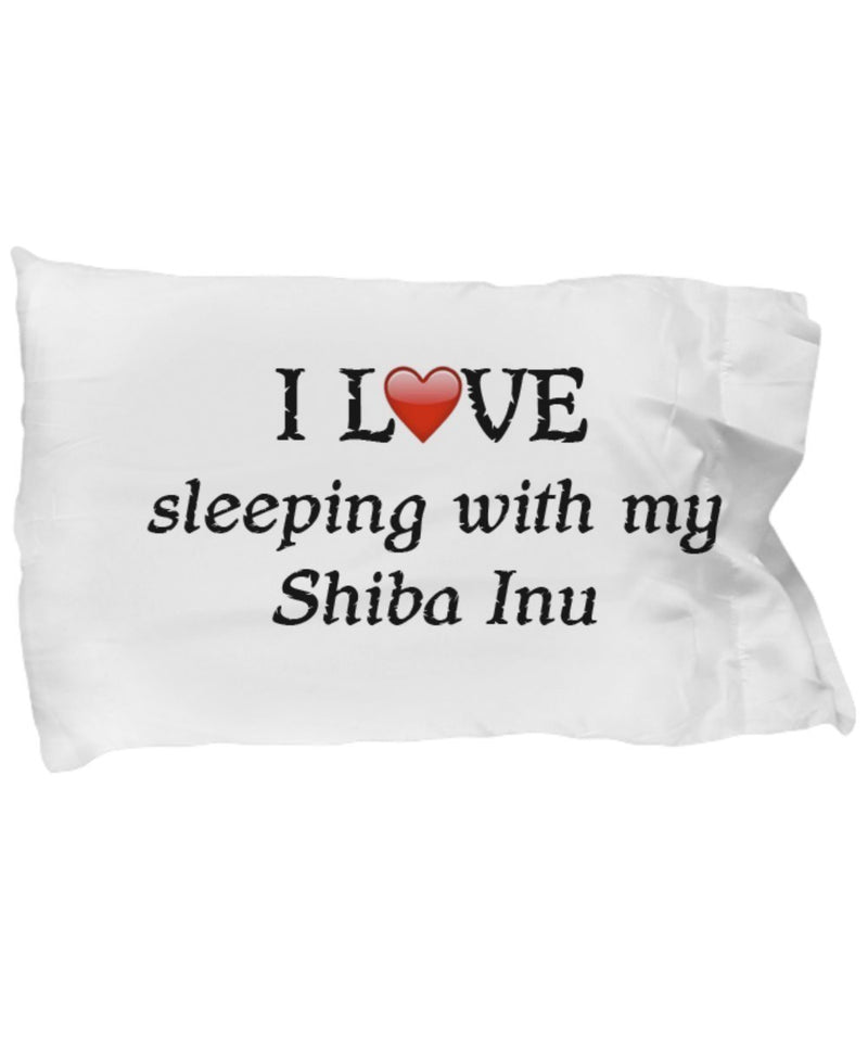 SpreadPassion I Love My Shiba Inu Pillowcase