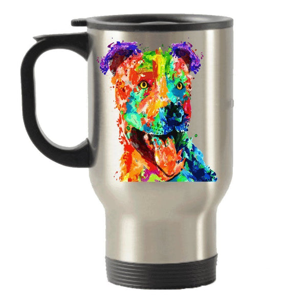 Colorful Pit Bull Stainless Steel Travel Insulated Tumblers Mug Gift Idea