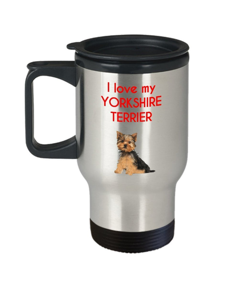 Yorkshire Terrier Travel Mug - Funny Tea Insulated Tumbler - Novelty Birthday Christmas Anniversary Gag Gifts Idea