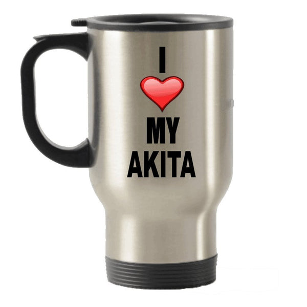 I Love My Akita Stainless Steel Travel Insulated Tumblers Mug