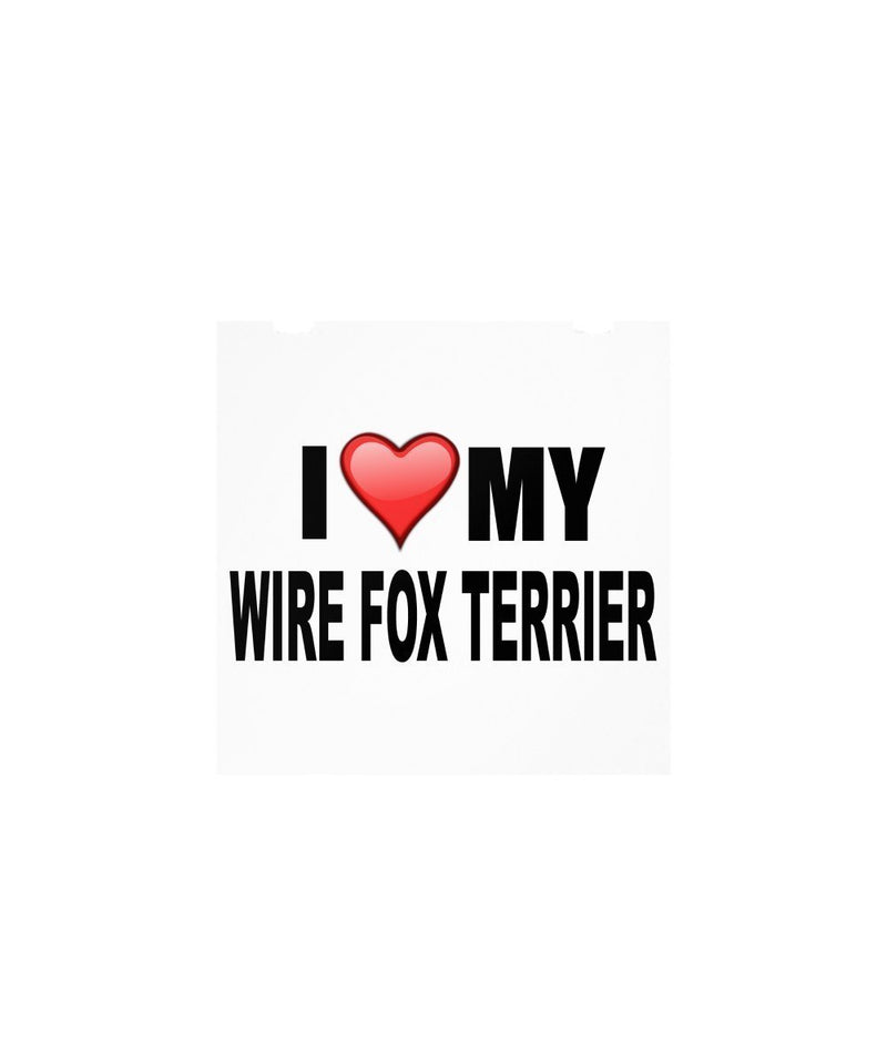 SpreadPassion Wire Fox Terrier Gifts - I love my wire fox terrier