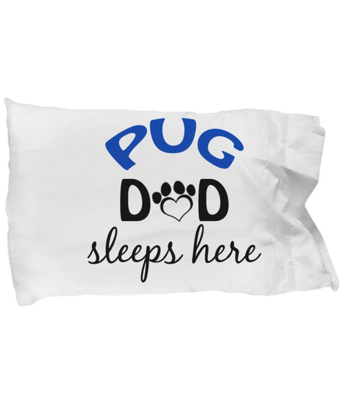 Pug Mom and Dad Pillowcases (Couple)