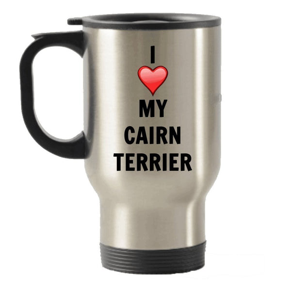 I Love My Cairn Terrier Stainless Steel Travel Insulated Tumblers Mug