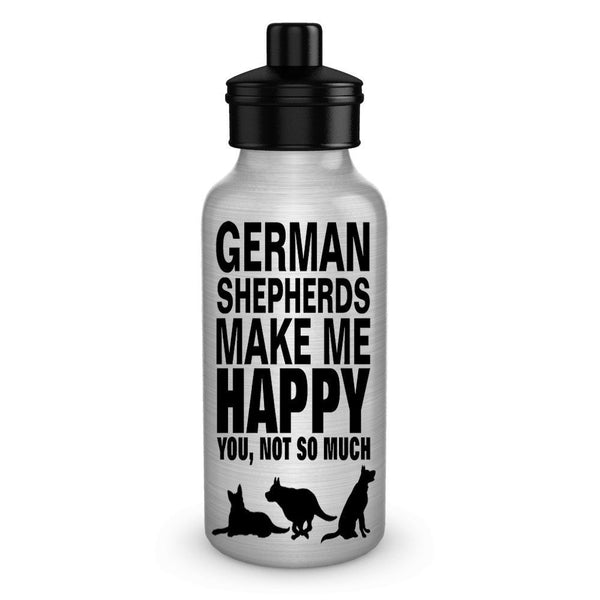 German Shepherds Make Me Happy Dog Lover Water Bottles