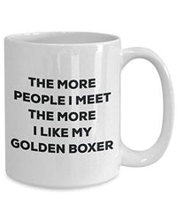 The More People I Meet The More I Like My Golden Boxer Mug