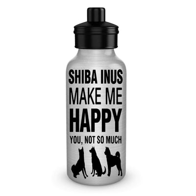Shiba Inus Make Me Happy Dog Lover Water Bottles Gifts Idea