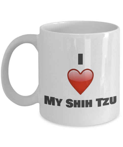 I Love My Shih Tzu Coffee Mug - Shih Tzu Lover Gifts