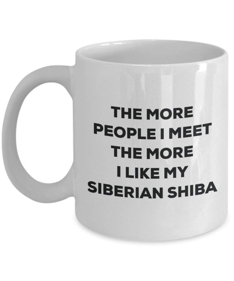 The more people i meet the more i Like My Siberian Shiba mug – Funny Coffee Cup – Christmas Dog Lover cute GAG regalo idea 15oz Infradito colorati estivi, con finte perline