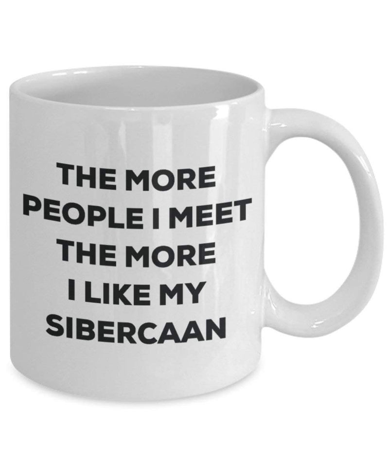 The more people i meet the more i Like My Siberian Boston mug – Funny Coffee Cup – Christmas Dog Lover cute GAG regalo idea 11oz Infradito colorati estivi, con finte perline
