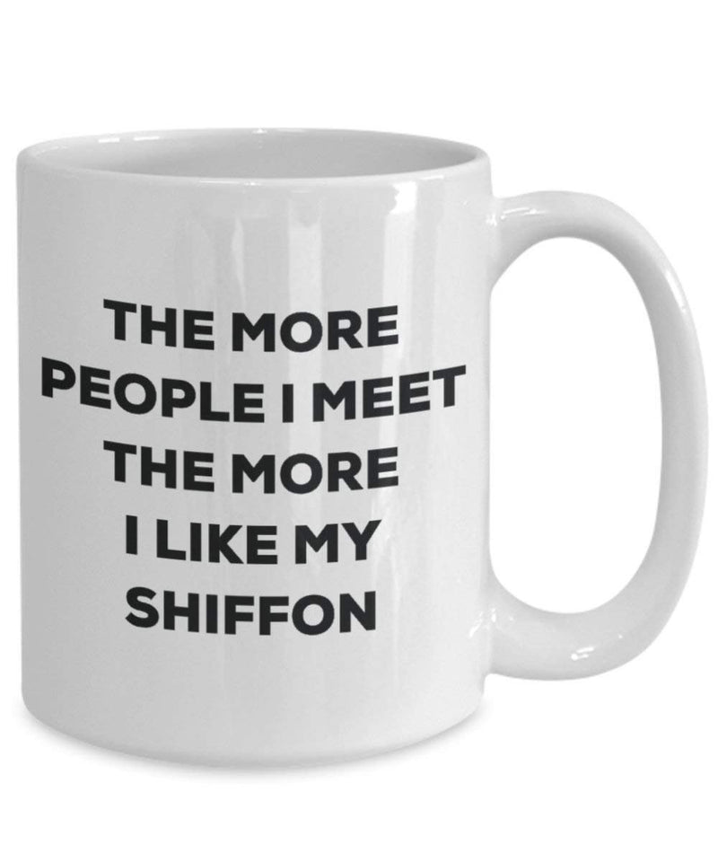 The more people i meet the more i Like My Shiffon mug – Funny Coffee Cup – Christmas Dog Lover cute GAG regalo idea 11oz Infradito colorati estivi, con finte perline