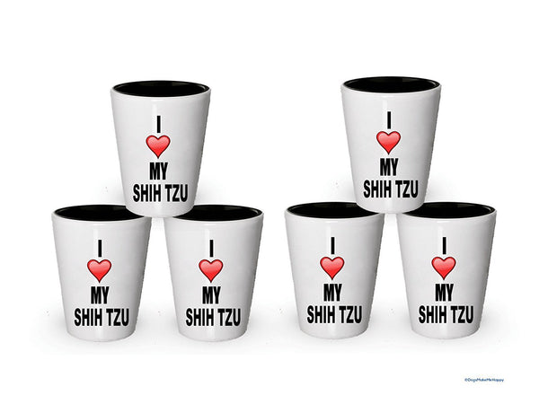 I Love My Shih tzu shot glass - Shih tzu Dog lover Gifts Idea (6)