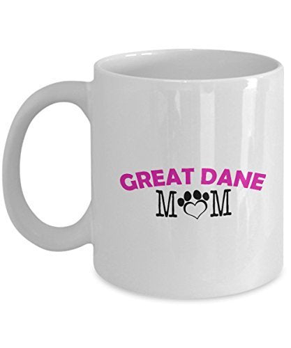 Funny Great Dane Couple Mug – Great Dane Dad – Great Dane Mom – Great Dane Lover Gifts - Unique Ceramic Gifts Idea (Mom)