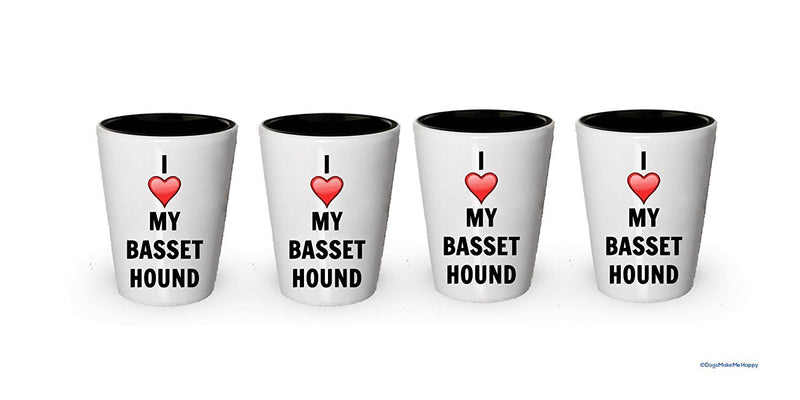 I love my Basset Hound Shot Glass - Basset Hound Lover gifts (6)
